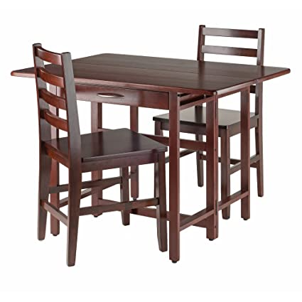 Amazoncom Winsome Wood Taylor 3 Pc Set Drop Leaf Table W Ladder