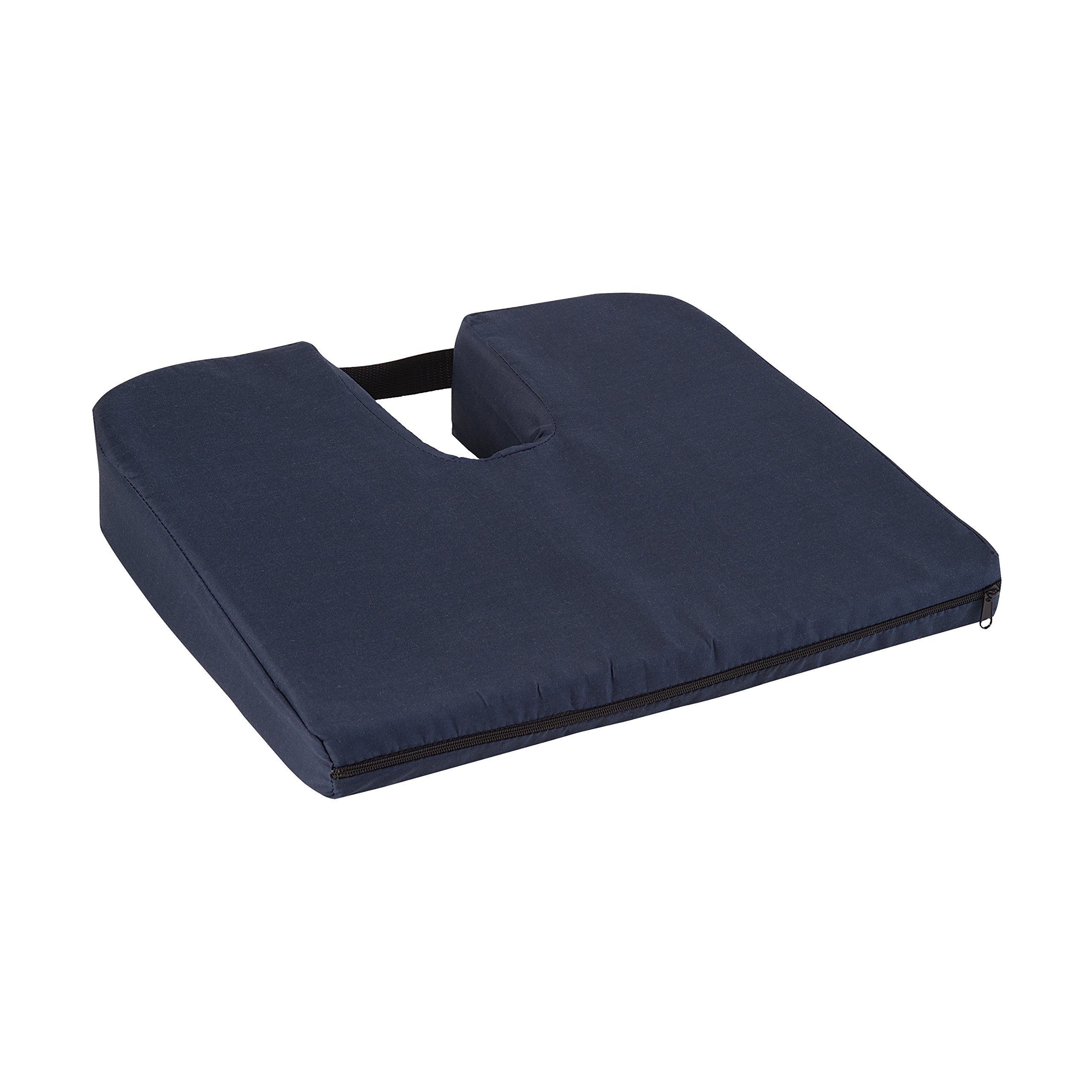 Duro-Med Coccyx Cushion, Coccyx Pillow, Coccyx Seat Cushion, Helps with Sciatica Back Pain, Navy, 14.8 by 13.1 by 2.9 inches