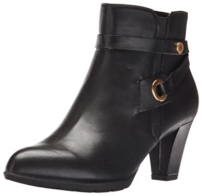 Anne Klein Women's Chelsey Leather Western Boot, Black, ...