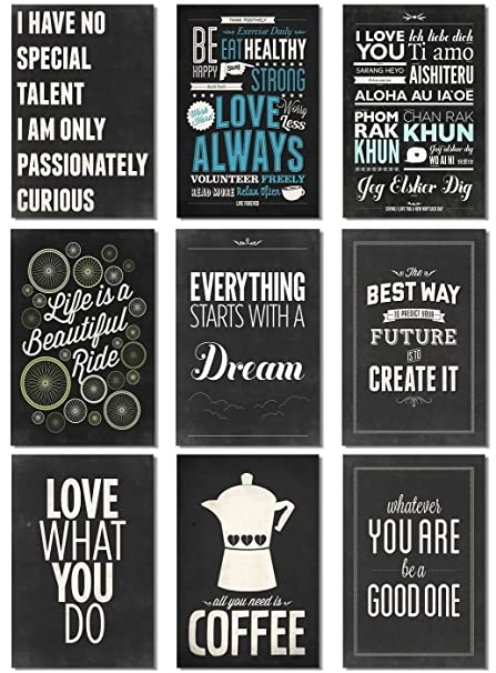 Amazon 9pcs X Poster Motivational Self Positive Life Is Like