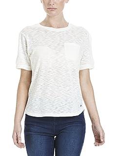 Bench Print tee, Camiseta para Mujer, Gris (Stripe Winter Grey Marl + Blac P1095), Small