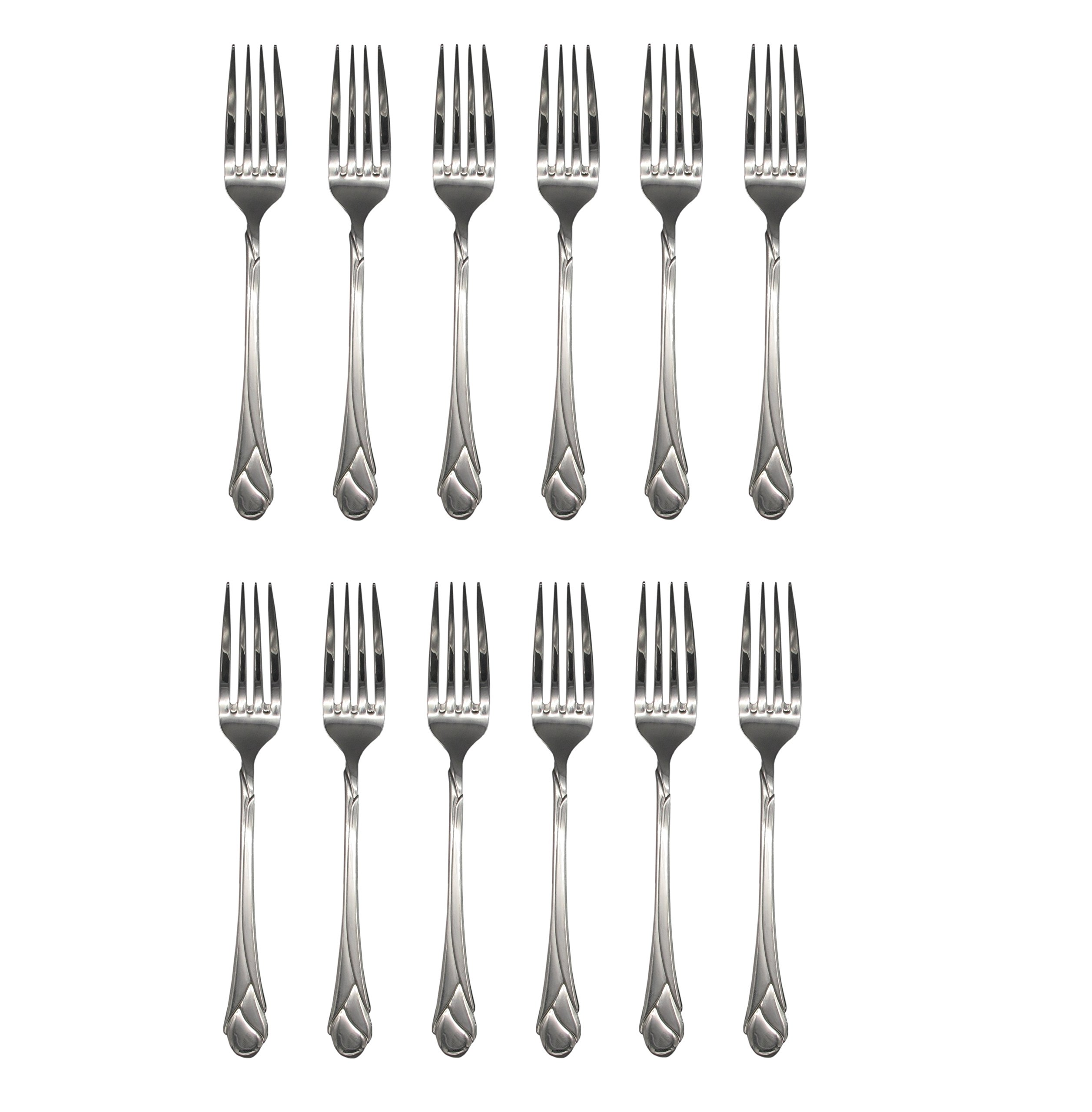 Mikasa Sweet Pea 18/8 Stainless Steel 8'' Dinner Fork (Set of Twelve)