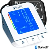 Clinical Upper Arm Blood Pressure Monitor - Revolutionary Double Pulse Detection Technology - iProvèn BPM-2244BT - Lightning fast (30-40 sec) Highly Accurate - Free Mobile App and Convenient Cuff