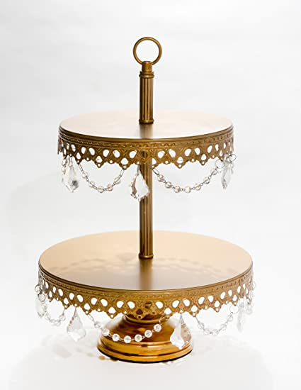 Amazon opulent treasures two tiered chandelier cake cupcake opulent treasures two tiered chandelier cake cupcake dessert plate stand antique gold wedding aloadofball Choice Image