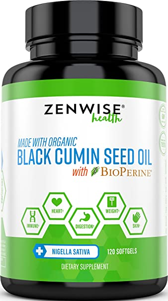 Black Cumin Seed Oil With Bioperine Organic Cold Pressed With Omega 3 6 9 Fatty Acids