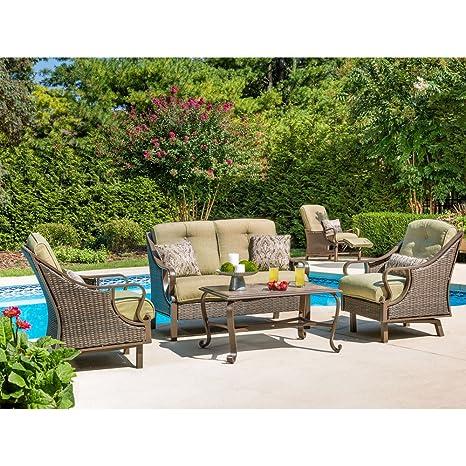 Image Unavailable - Amazon.com: Hanover VENTURA4PC Ventura 4-Piece Indoor Lounging Set