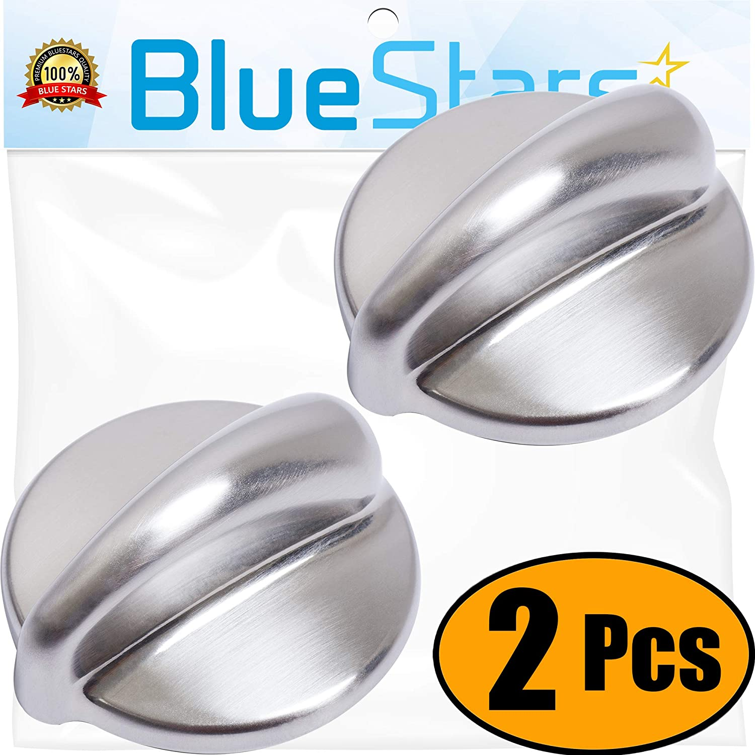 Ultra Durable WB03K10303 Cooktop Control Knob Replacement Part by Blue Stars- Exact Fit for General Electric Range - Replaces 1810427 AP4980246 WB03K10208 - PACK OF 2