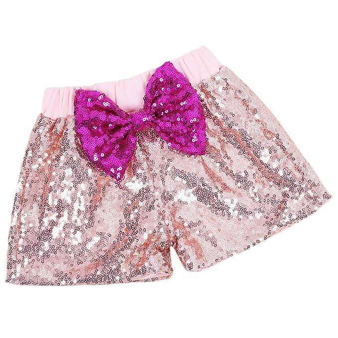 Amazon.com: Pantalones cortos de lentejuelas brillantes para ...
