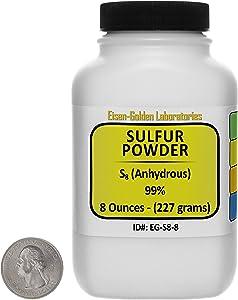 Sulfur Powder [S8] 99% ACS Grade Powder 8 Oz in a Space-Saver Bottle USA