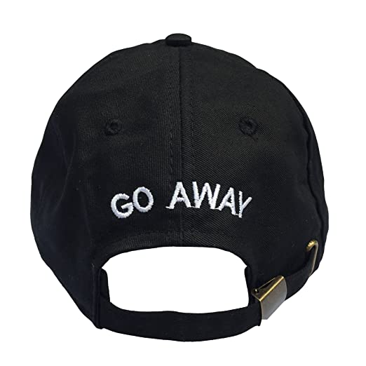 79e8869f16c Go Away Embroidered Dad Hat 100% Cotton Baseball Cap For Men And ...