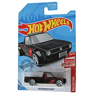 Hot Wheels Red Edition 12/12 Volkswagen Caddy 177/250, Black: Toys & Games