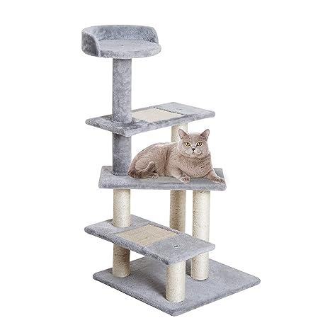 PawHut - Rascador para Gatos con diseño de árbol de sisal, Centro de Actividades de