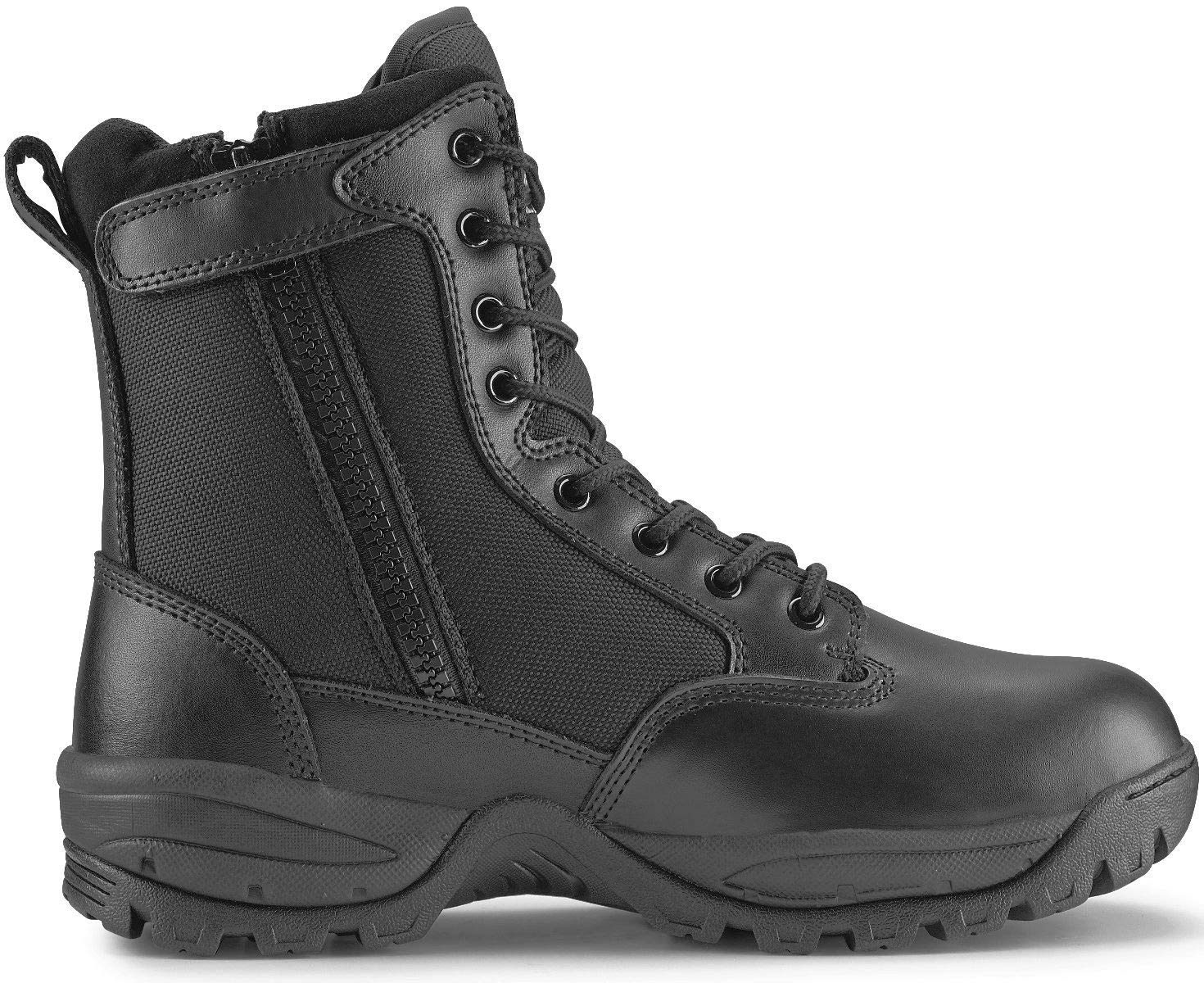 Maelstrom Men's TAC Force Waterproof Military Tactical Boots with Zipper, Style # T5180Z WP, Black, 8'', Waterproof, Size 8M