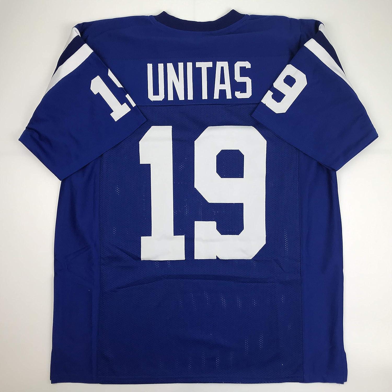 d037a701 Amazon.com: Unsigned Johnny Unitas Indianapolis Blue Custom Stitched ...