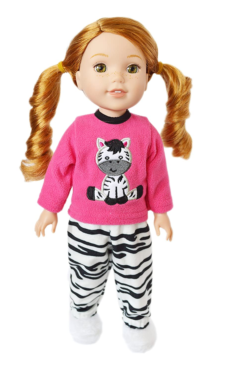 and Glitter Girls Dolls Hearts for Hearts Dolls Brittanys Zebra Pjs Compatible with Wellie Wisher Dolls