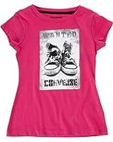 Converse Kids T-Shirt Chucks Tee Girls Shiny Pink 72108