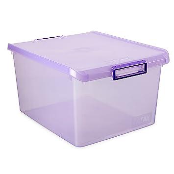 Tatay 1150013 Caja de Almacenamiento Multiusos con Tapa, 35 l de Capacidad, Plástico Polipropileno