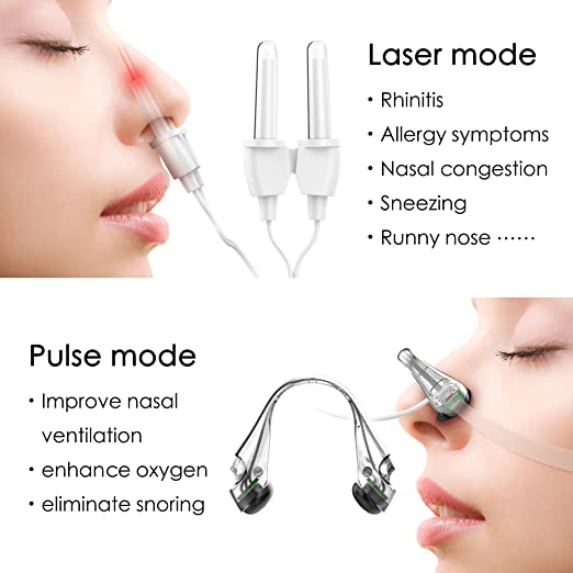 Allergy Reliever Anti-Allergy Anti-Snore Therapy Device LifeBasis Allergic  Rhinitis Laser Treatment Machine for Snore Stuffy Nose Nasal Itching