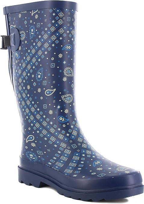 Western Chief Women's Wide Calf Waterproof Rain Boot