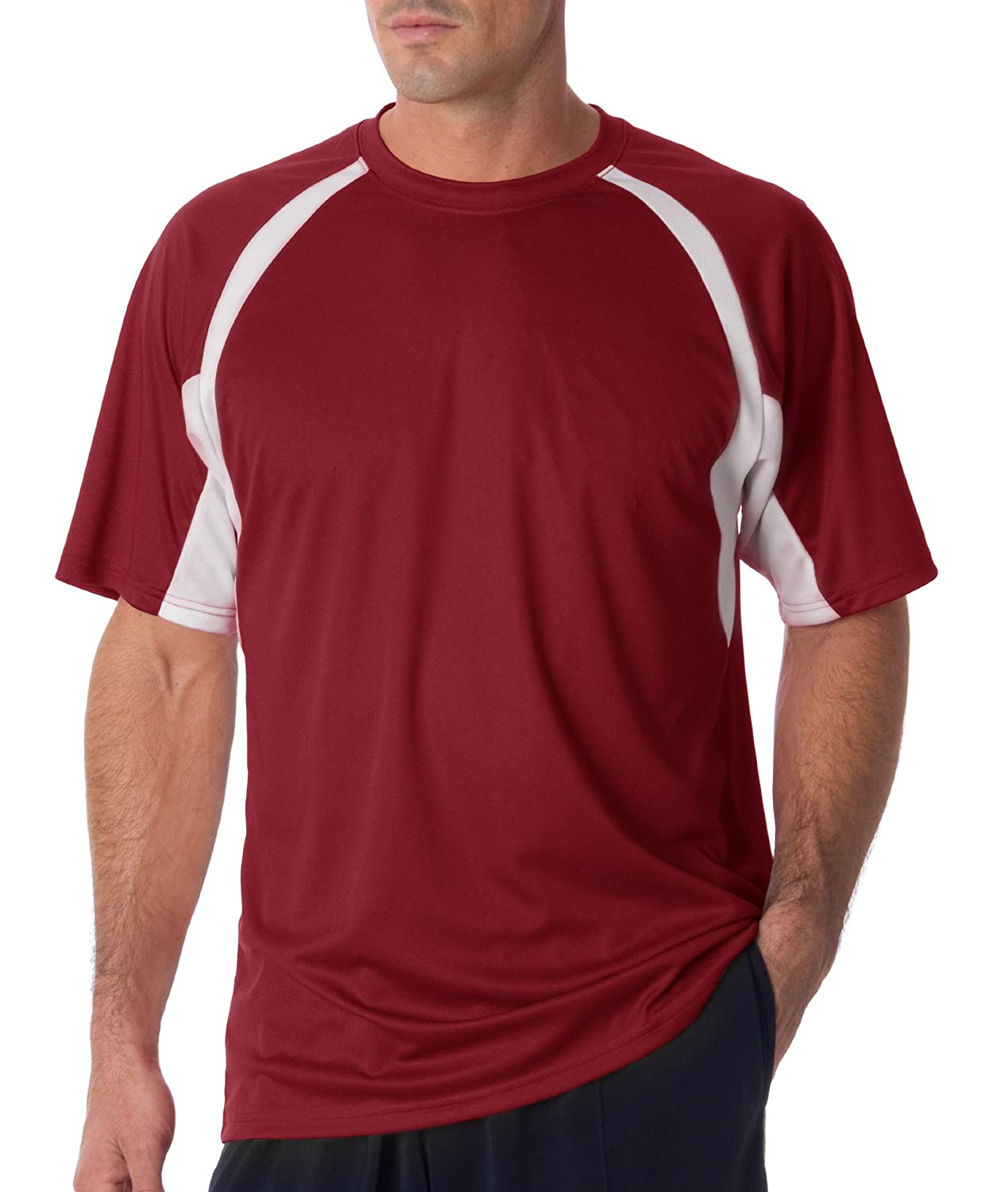 BADGER 4144 Badger Adult B-Core Short-Sleeve Two-Tone Hook Tee 4144 Badger BD4144