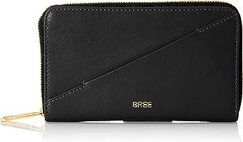 Schwarz 10.5x2.5x20 cm Black Flap Zipped Pouch W19 Schl/üsselm/äppchen BREE Damen Privy 148
