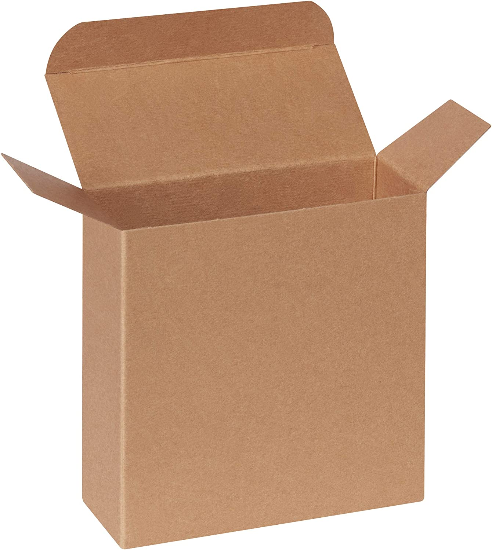 250//Case 4 7//8 x 2 1//16 x 4 7//8 Kraft Reverse Tuck Folding Cartons
