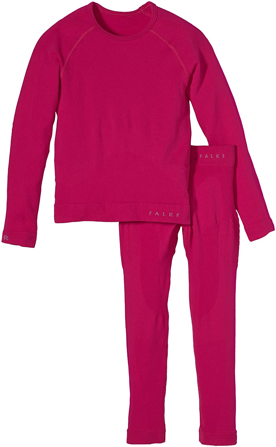FALKE Children's Ski Underlayer Set including Shirt Long Sleeves and Tights Long