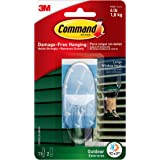Command Outdoor Large Window Hook, Clear, Decorate Damage-Free (17093CLR-AWES)