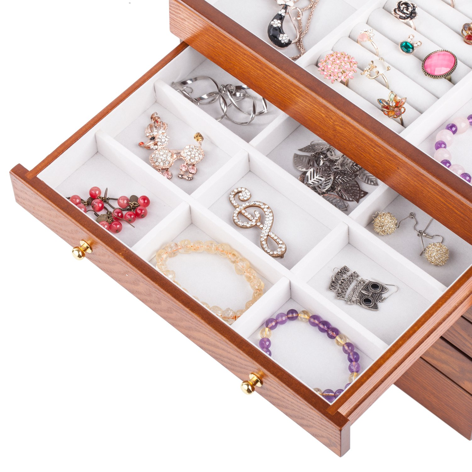 Rowling Extra Large Wooden Jewelry Box/Jewelry Armoire Ring Necklacel Gift Storage Box Organizer by Rowling (Image #5)
