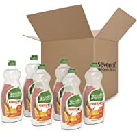 6-Pack Seventh Generation Dish Liquid Soap Clementine Zest