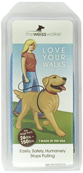 Amazon.com : Weiss Walkie No Pull Dog Leash, Large, Blue : Pet ...