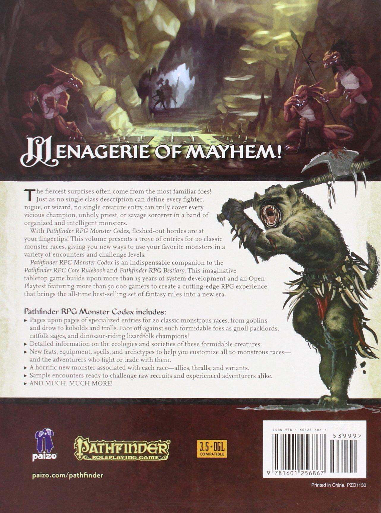 Pathfinder Roleplaying Game: Monster Codex: Jason Bulmahn