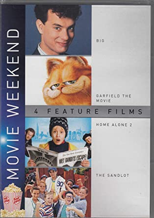 Amazon Com Big Garfield The Movie Home Alone 2 The Sandlot 4 Dvd Set 4 Movie Weekend Feature Film Collection Movies Tv