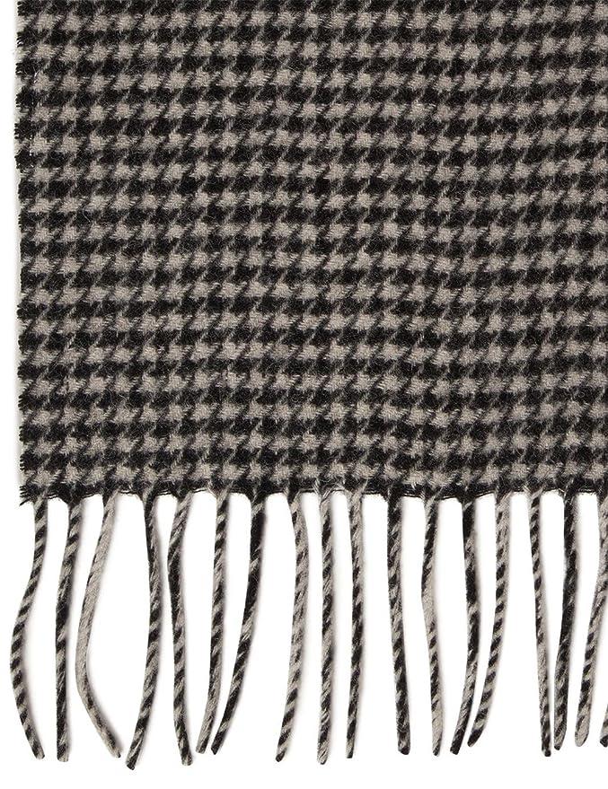 3e90b9d4ccdf Monoprix HOMME - Echarpe motif pied de poule - Homme - Taille   TU - Couleur    NOIR OFF WHITE  Amazon.fr  Vêtements et accessoires