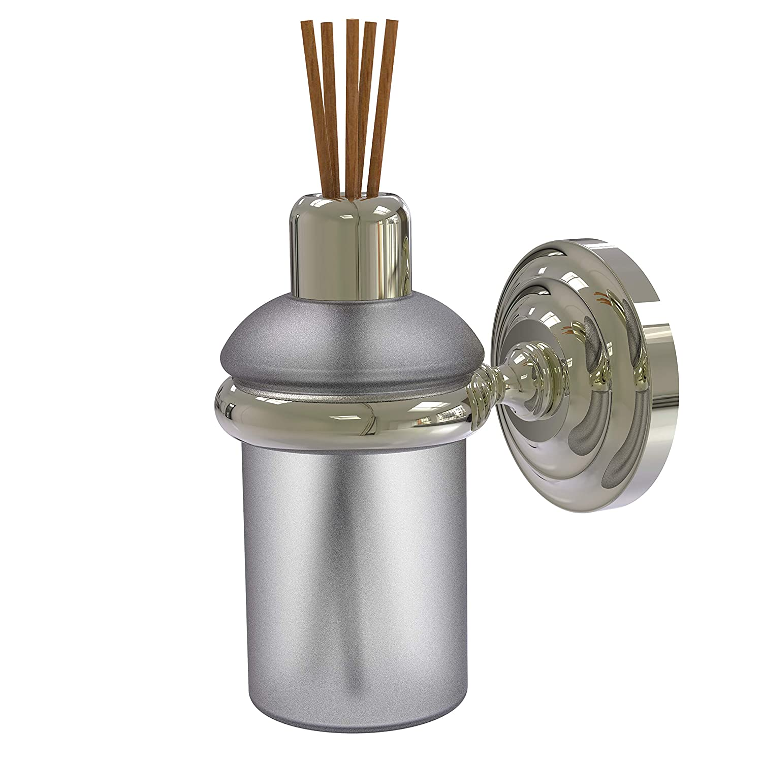 Allied Brass Que Wall Mounted Reed Fragrance Oil Diffuser, 5 Ounce Capacity, Polished Nickel