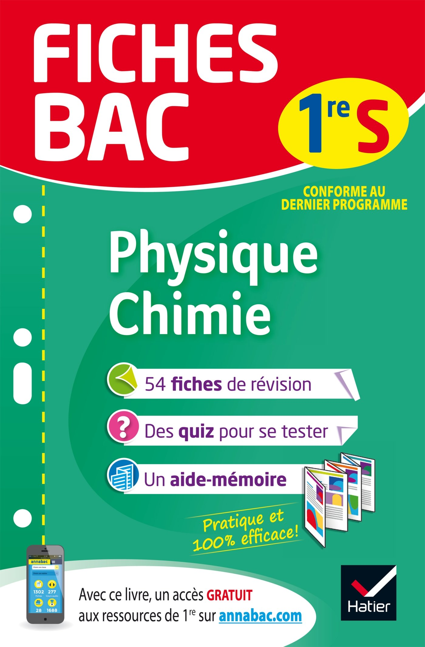 Fiches Bac: Physique-Chimie 1re S (French) Paperback