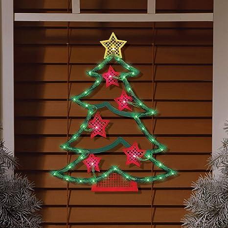 impact innovations holiday time lighted tree window decoration tree with stars indooroutdoor 45 mini