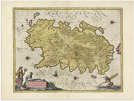 Cartina Geografica Sud Sardegna.The Blaeu Prints Corse Du Sud Sardegna Mappa Storica Stampa Da Atlas Antico Di Joan Blaeu Mostra Mappa Antica Cagliari Nugoro Nuoro Amazon It Casa E Cucina