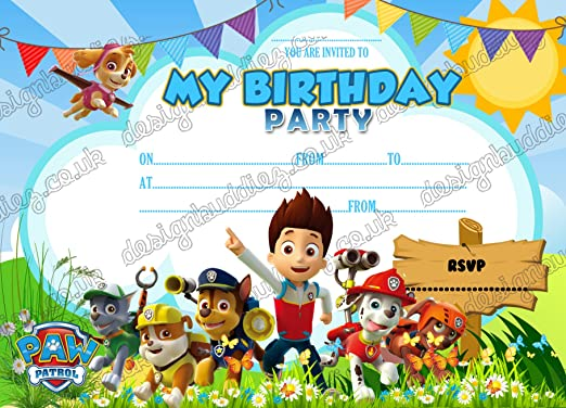 design buddies - 20 Invitaciones de cumpleaños de la ...