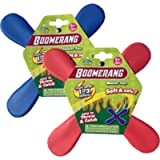Indoor Boomerang 2 Pack - Great Beginner Boomerangs for Kids or Adults. Soft and Safe.