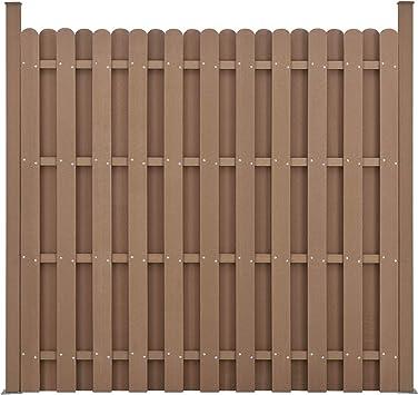 neu.holz Panel Cerca del jardín con 11 listones de madera compuesto plástico Wpc para marrón 185 x 747 cm: Amazon.es: Hogar