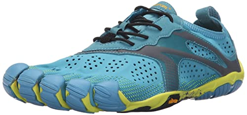 Vibram FiveFingers V-run, Men's Running, Multicolore (Blue/yellow),