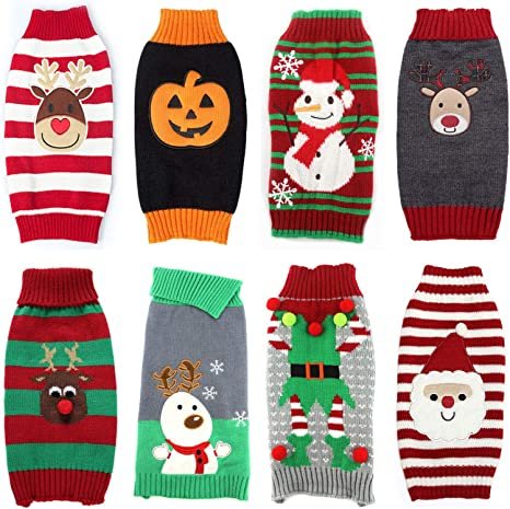 Pet Dog Christmas Clothes For Small Large Dogs Xmas Puppy Big Dog Sweater For