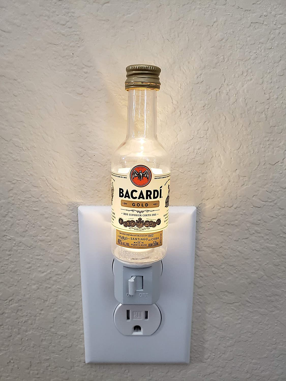 Plug-In Light Liquor Craft Wall Light Bottle Craft Bacardi Night Light Home Decor Gift LED