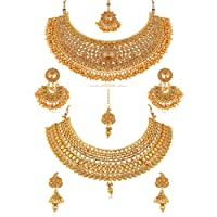REEVA Gold-Plated Jewellery Set for Women - Combo Pack