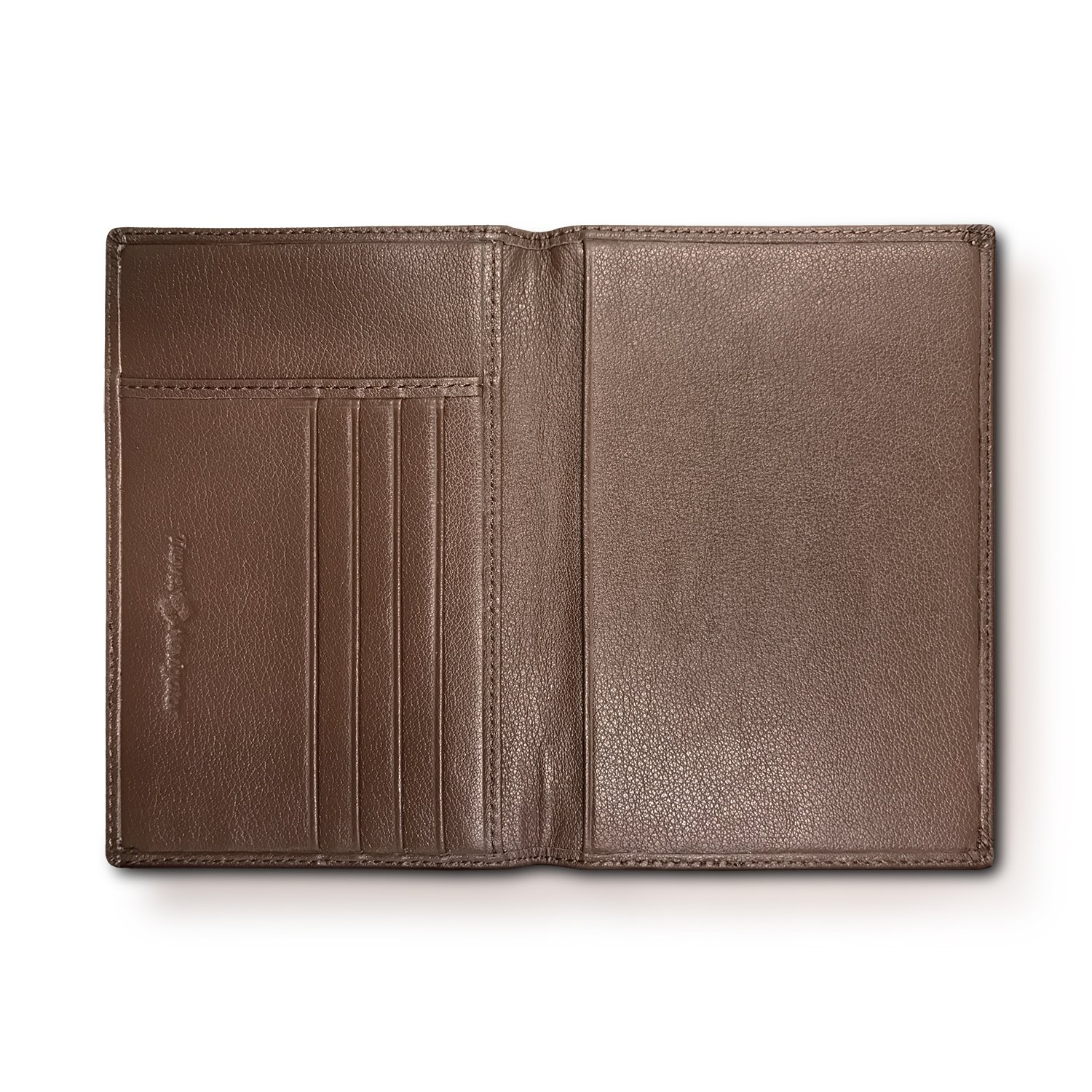 RFID Blocking Folding Leather Passport Holder Wallet For Men and Women - Brown by Travel Navigator