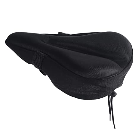 Silicone Gel Thick Soft Bicycle Bike Cycling Saddle Seat Cover Cushion Pad JL
