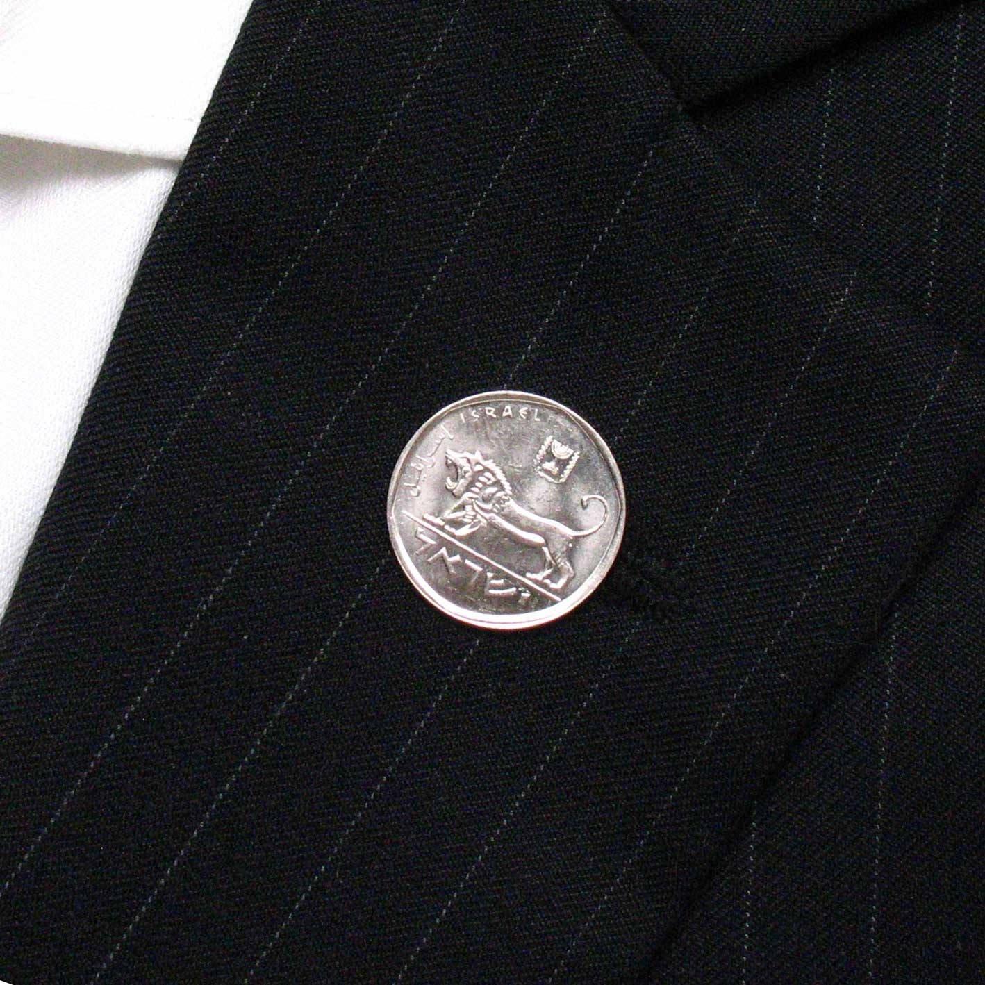 Israel moneda Tie Tack Pin de solapa traje bandera israelí judío ...