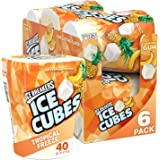 Ice Breakers Ice Cubes Sugar Free Gum with Xylitol, Tropical, 40 Piece (Pack of 6)