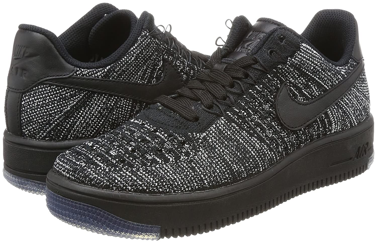 Nike - Air Force 1 Flyknit Low - 820256007 - Color: Gris-Negro - Size: 39.0 4Hf75rHNkj